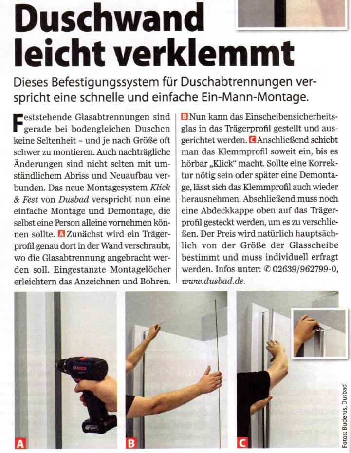 Artikel Duscheneinbau